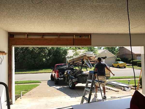 Clean Up Garage New Double Door Conversions That Combine Two Single Doors To One